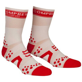 Compressport Racing V2 Bike Chaussettes hautes, white/red